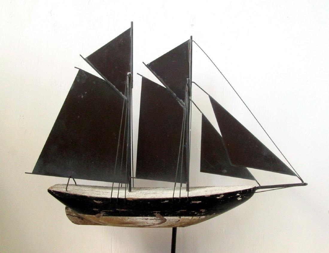 C 1920-40 Schooner Weathervane