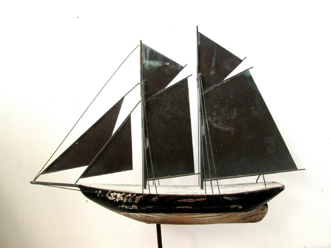 C 1920-40 Schooner Weathervane - 7