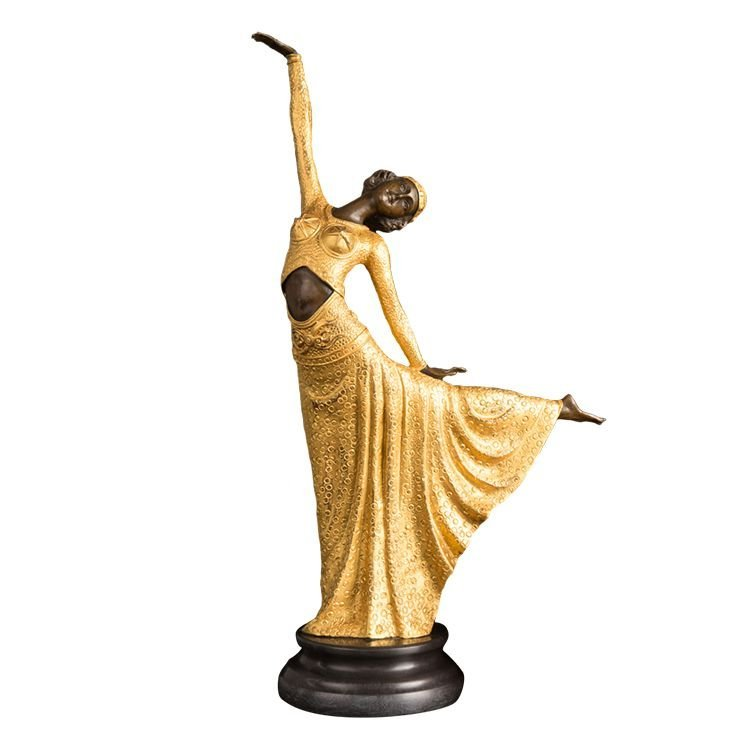 Bronze Art Deco Style Statue, After Chiparus