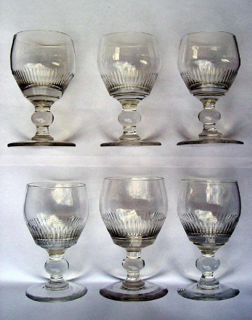 Six English wine glasses, Georgian