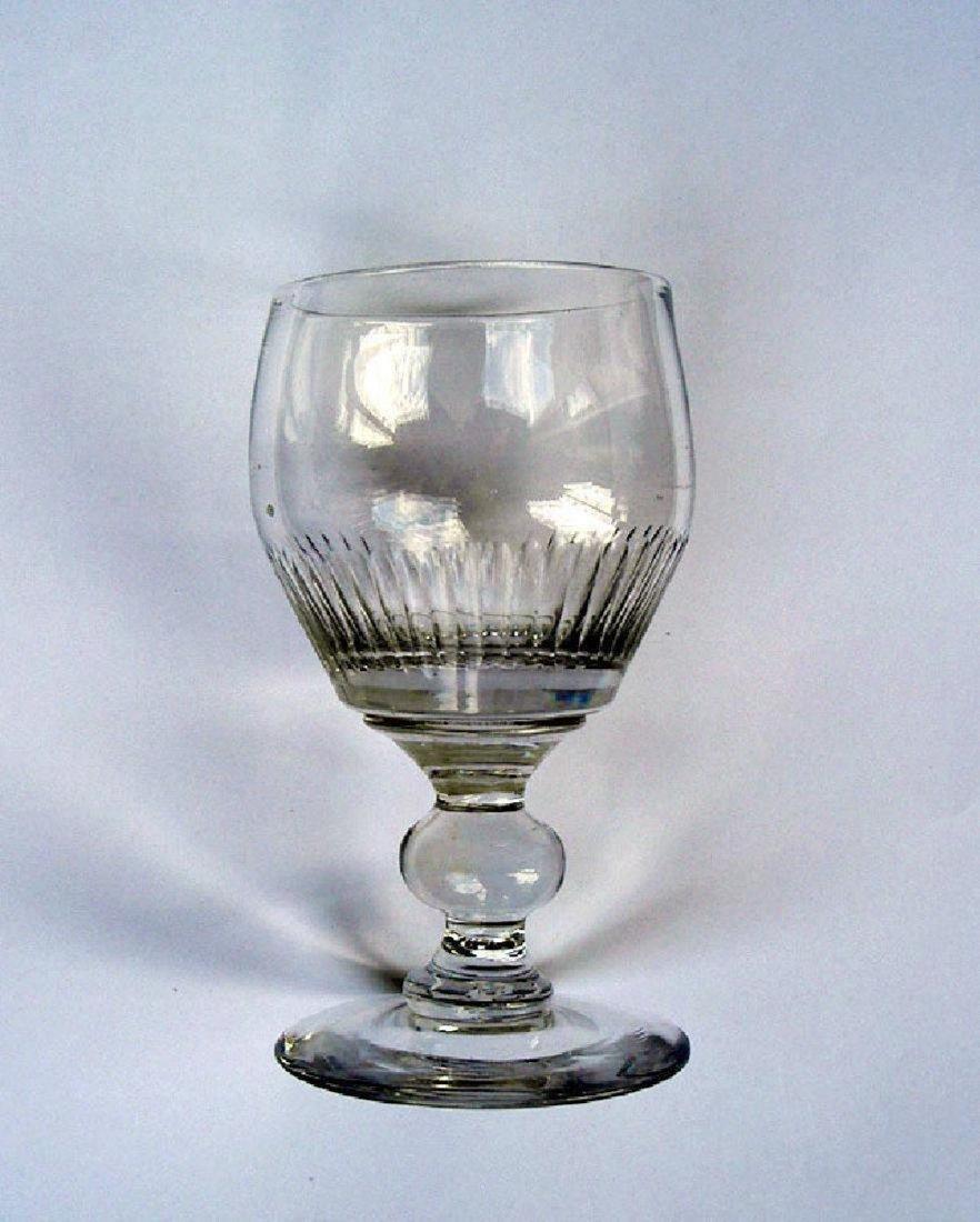 Six English wine glasses, Georgian - 2