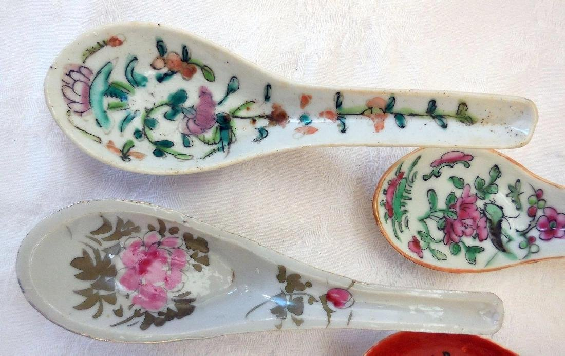 Lot of Vintage Asian Pottery Spoons - 5