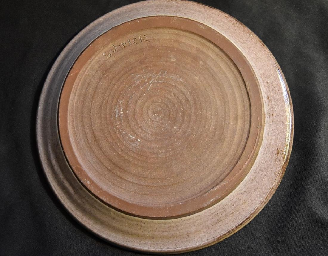 Edwin and Mary Scheier Art Pottery Dish with Two - 2