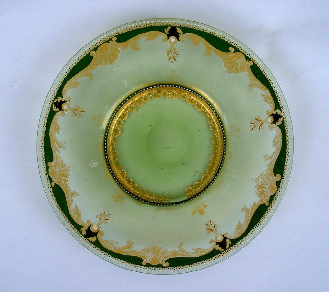Enamelled & gilt glass dish, probably by Moser, 19th C - 5