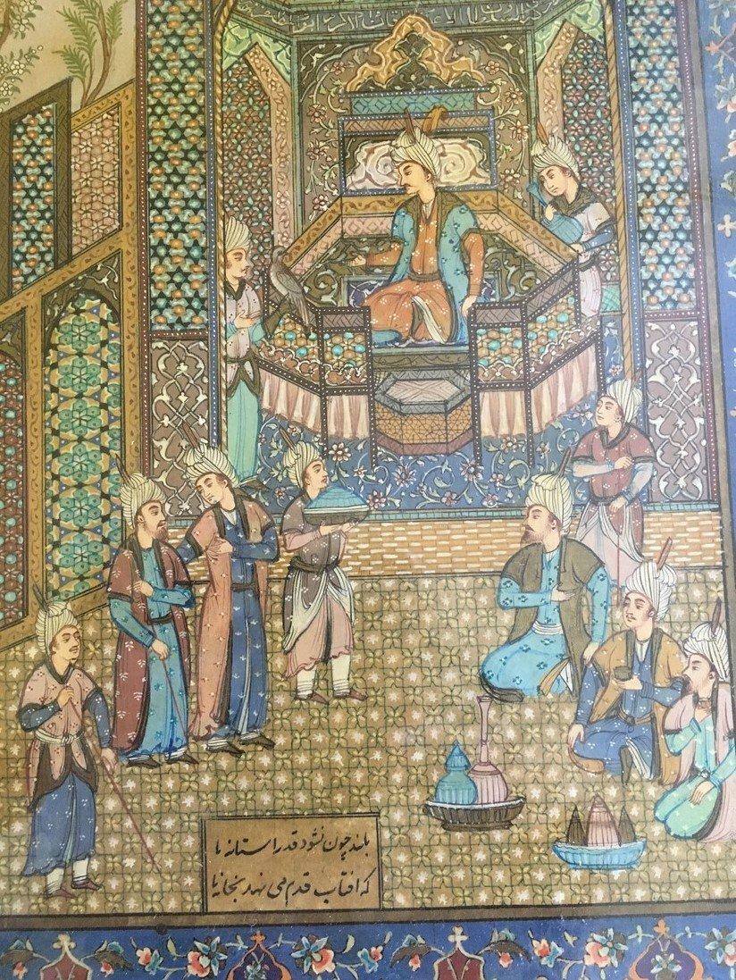 Antique Vintage Persian Painting - 5
