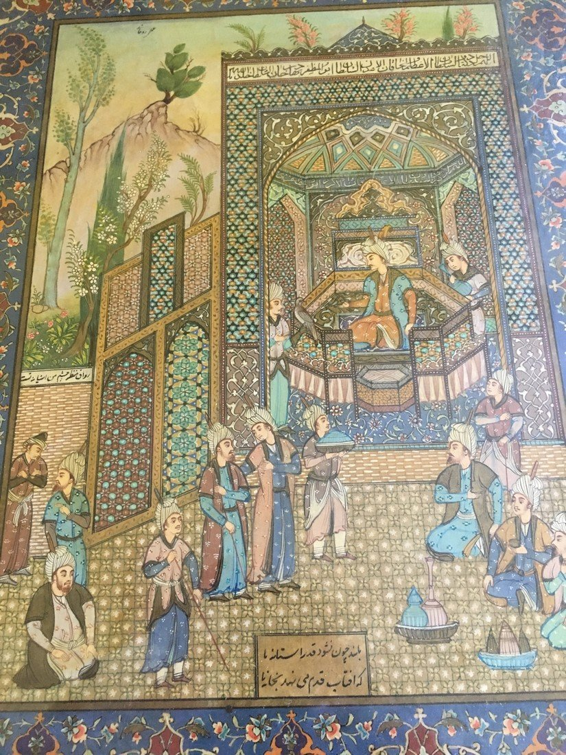 Antique Vintage Persian Painting - 6