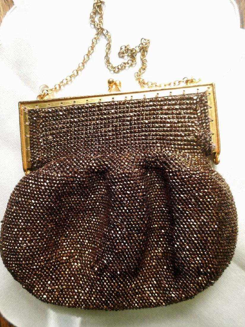 Vintage Copper-Beaded Purse - 2