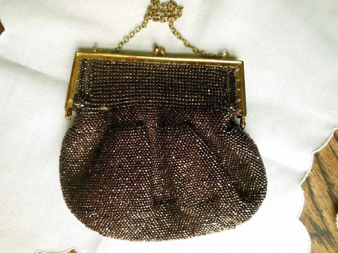 Vintage Copper-Beaded Purse - 3
