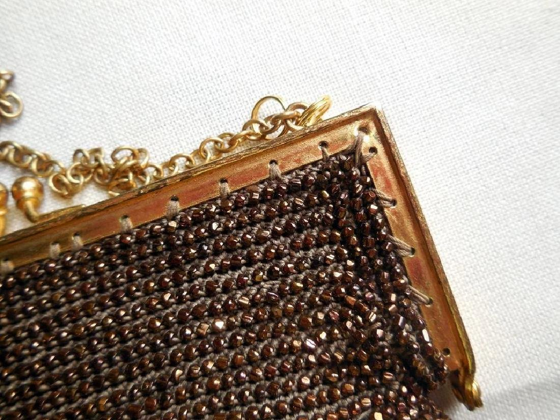 Vintage Copper-Beaded Purse - 4