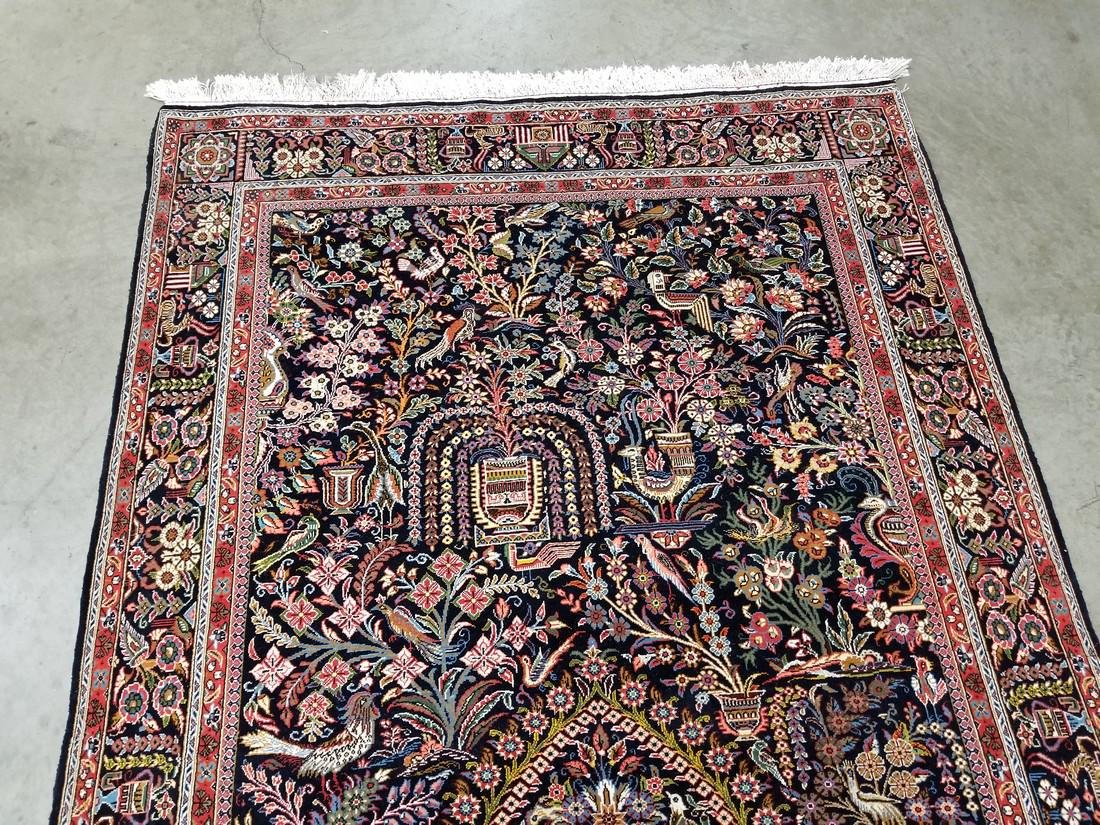 Persian Qom (Quom) Wool and Silk Rug 4.6x6.8 - 2