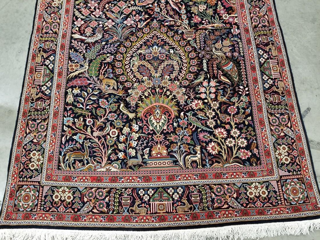 Persian Qom (Quom) Wool and Silk Rug 4.6x6.8 - 3