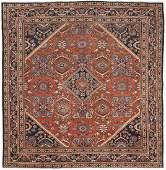 Antique Persian Mahal Rug 10.2x10.8