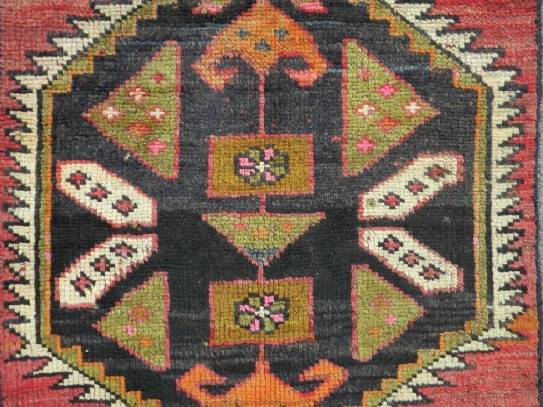 Semi Antique Wool on Wool Persian Hamadan Rug 6.8x2 - 4