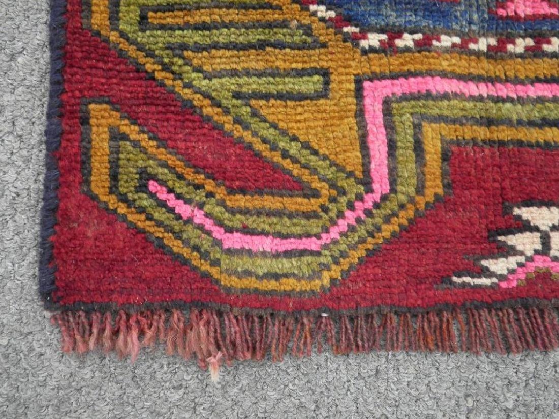 Semi Antique Wool on Wool Persian Hamadan Rug 6.8x2 - 6