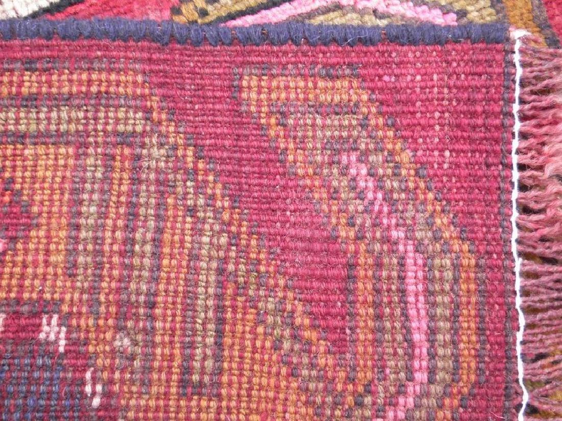 Semi Antique Wool on Wool Persian Hamadan Rug 6.8x2 - 7