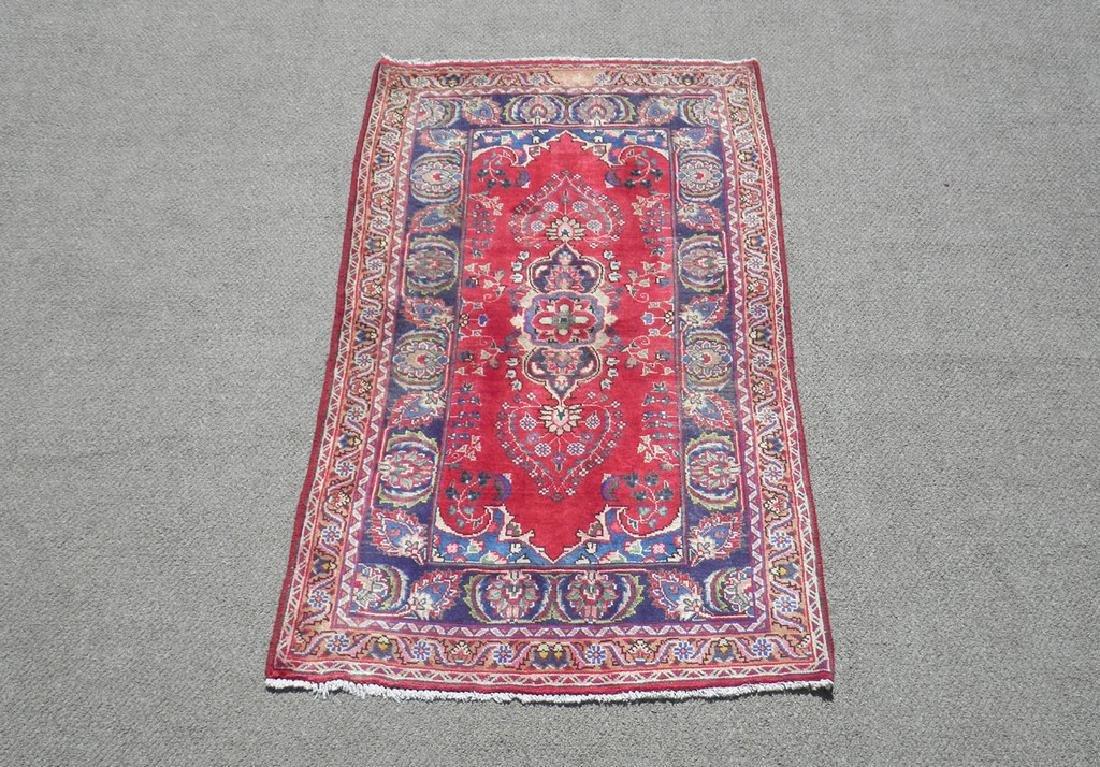 Hand Woven Semi Antique Persian Tabriz Rug 6.2x3.3
