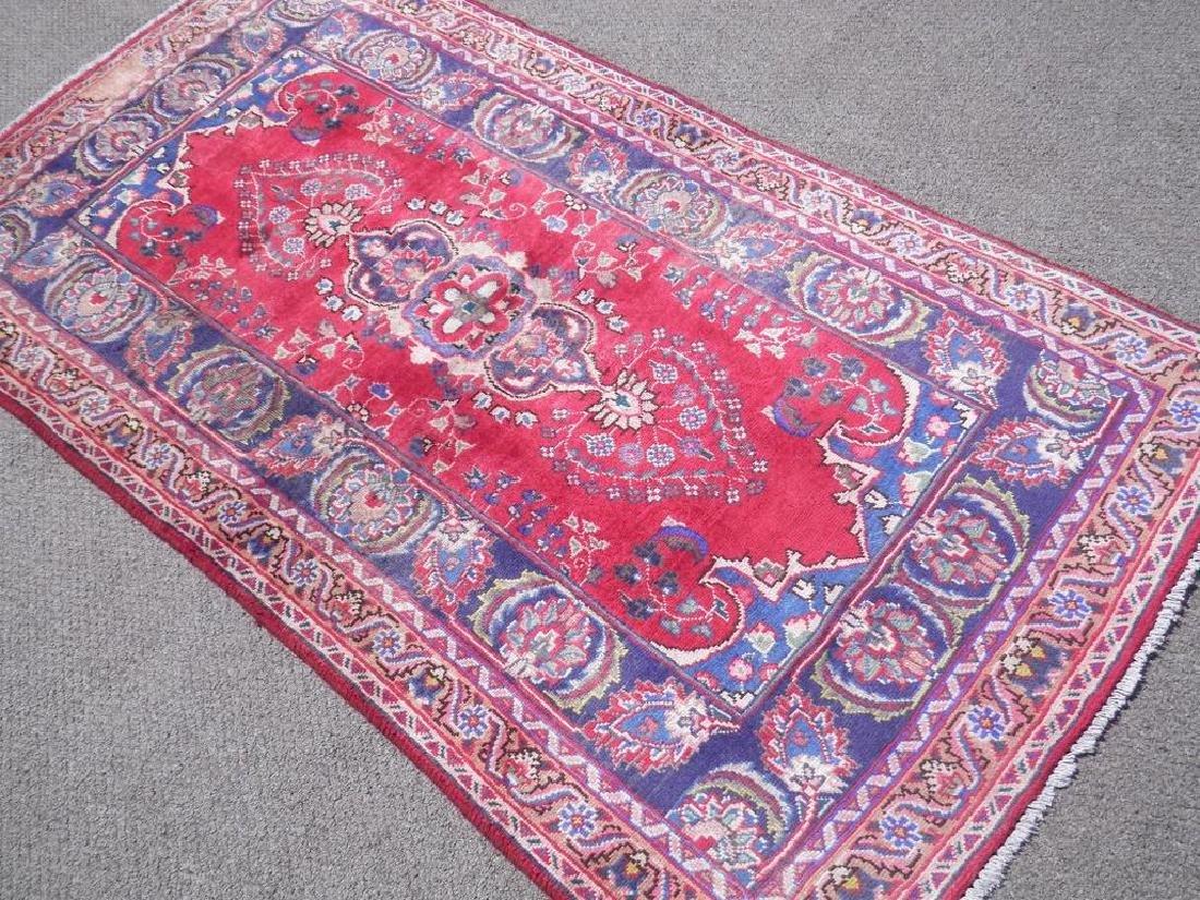 Hand Woven Semi Antique Persian Tabriz Rug 6.2x3.3 - 2