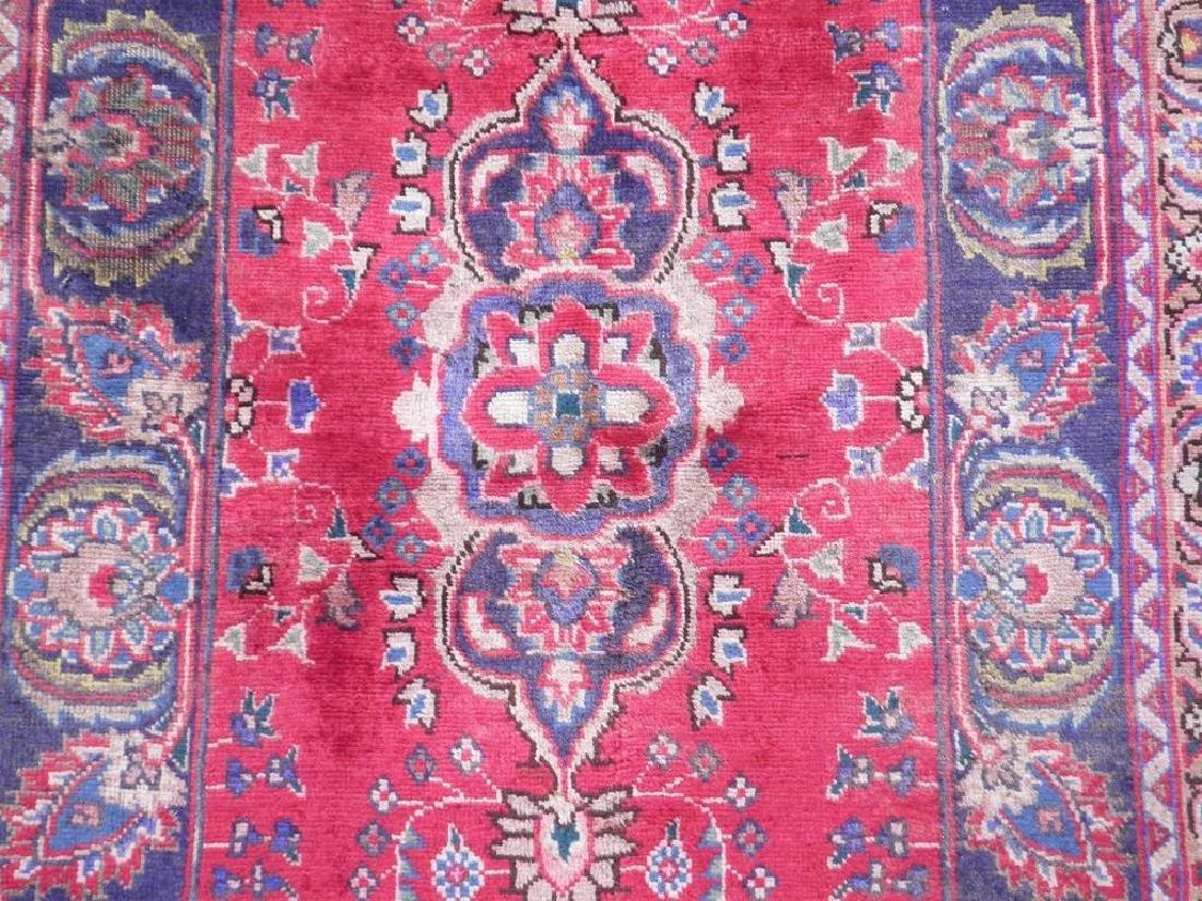 Hand Woven Semi Antique Persian Tabriz Rug 6.2x3.3 - 3