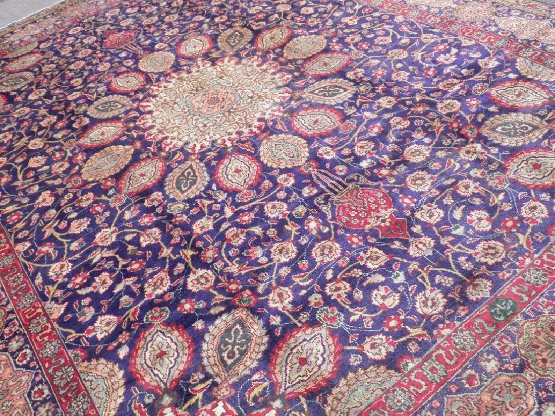 Hand Woven Semi Antique Persian Tabriz Rug 13.1x10 - 2