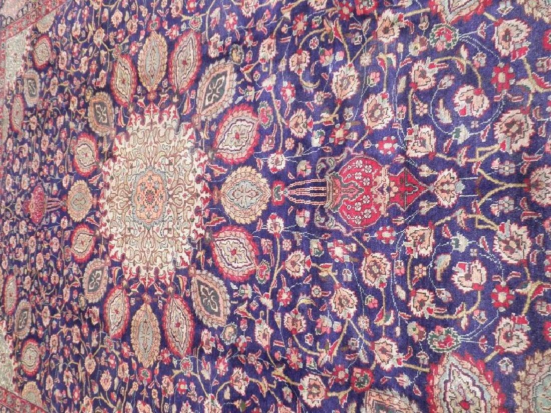 Hand Woven Semi Antique Persian Tabriz Rug 13.1x10 - 3