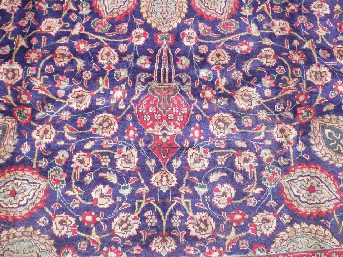 Hand Woven Semi Antique Persian Tabriz Rug 13.1x10 - 4