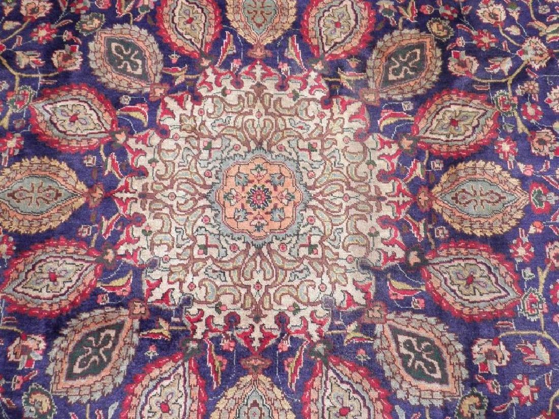 Hand Woven Semi Antique Persian Tabriz Rug 13.1x10 - 5