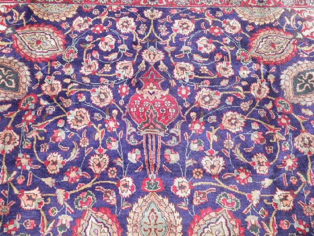 Hand Woven Semi Antique Persian Tabriz Rug 13.1x10 - 6