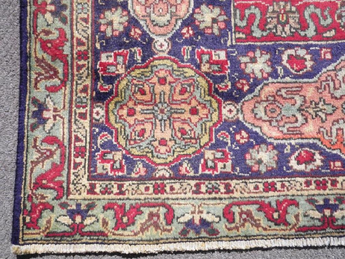 Hand Woven Semi Antique Persian Tabriz Rug 13.1x10 - 8