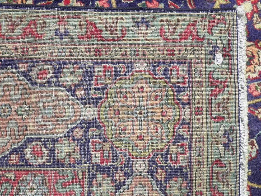 Hand Woven Semi Antique Persian Tabriz Rug 13.1x10 - 9