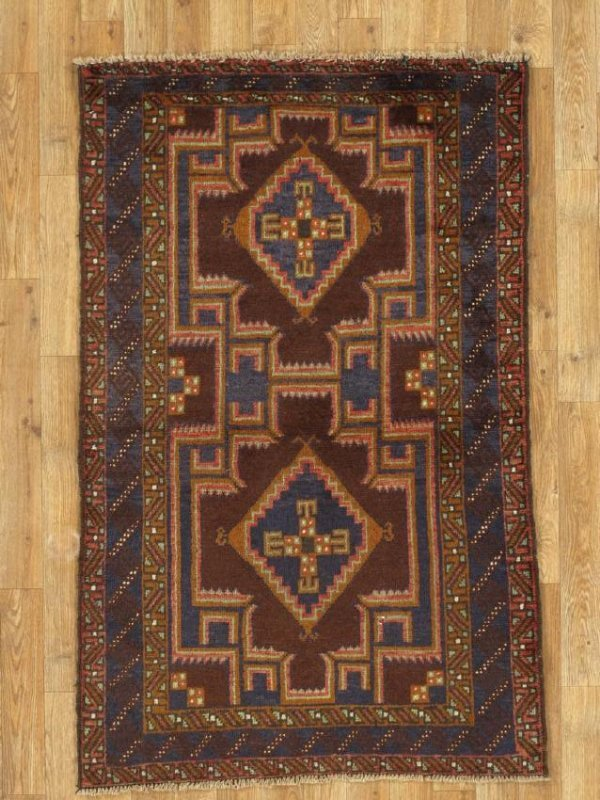 Semi-Antique Afghan Baluch Rug 2.10x4.6