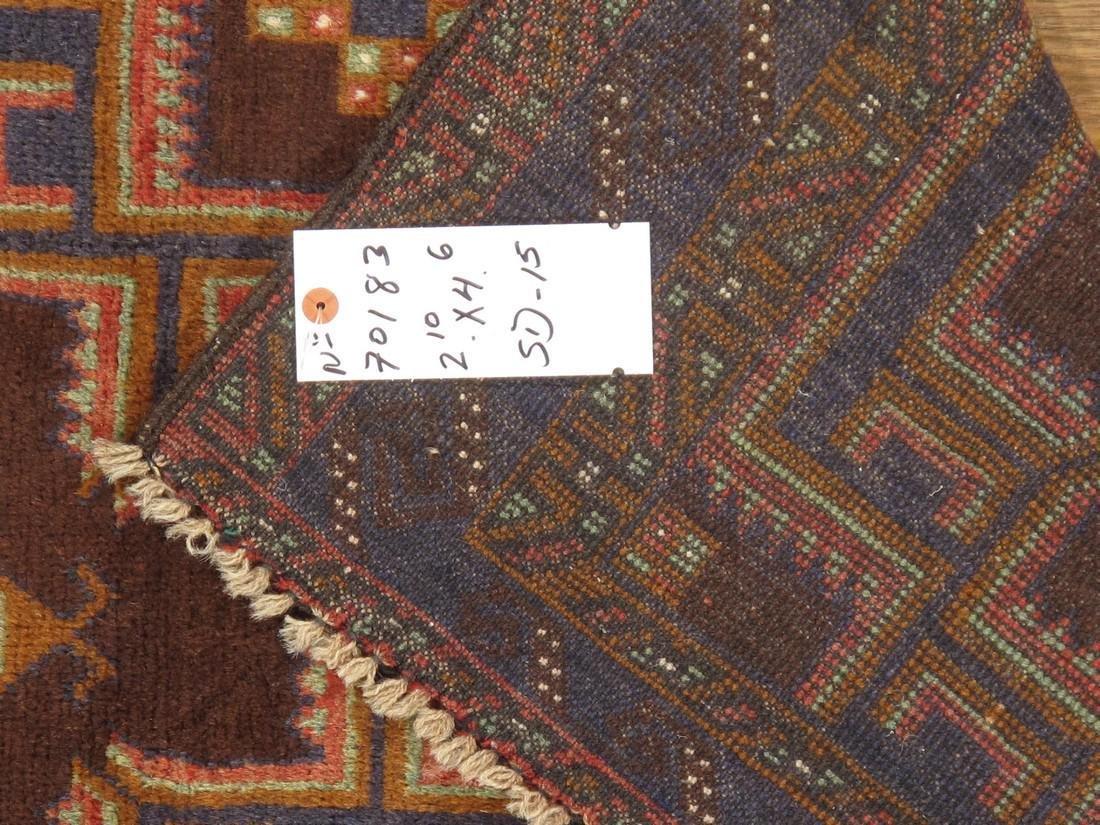 Semi-Antique Afghan Baluch Rug 2.10x4.6 - 2