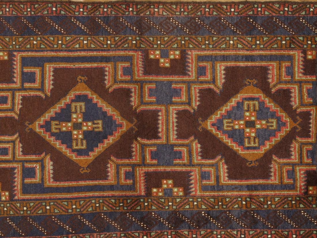 Semi-Antique Afghan Baluch Rug 2.10x4.6 - 5