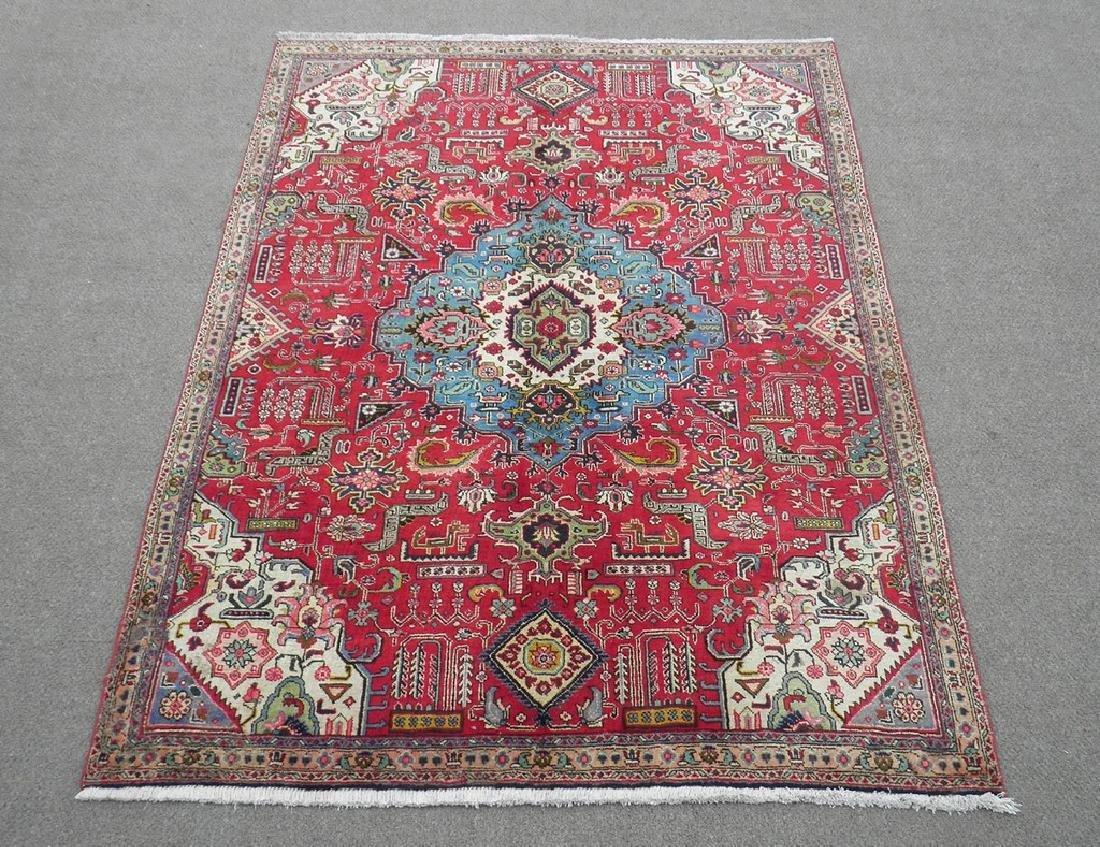 Hand Woven Semi Antique Persian Tabriz Rug 8.7x6