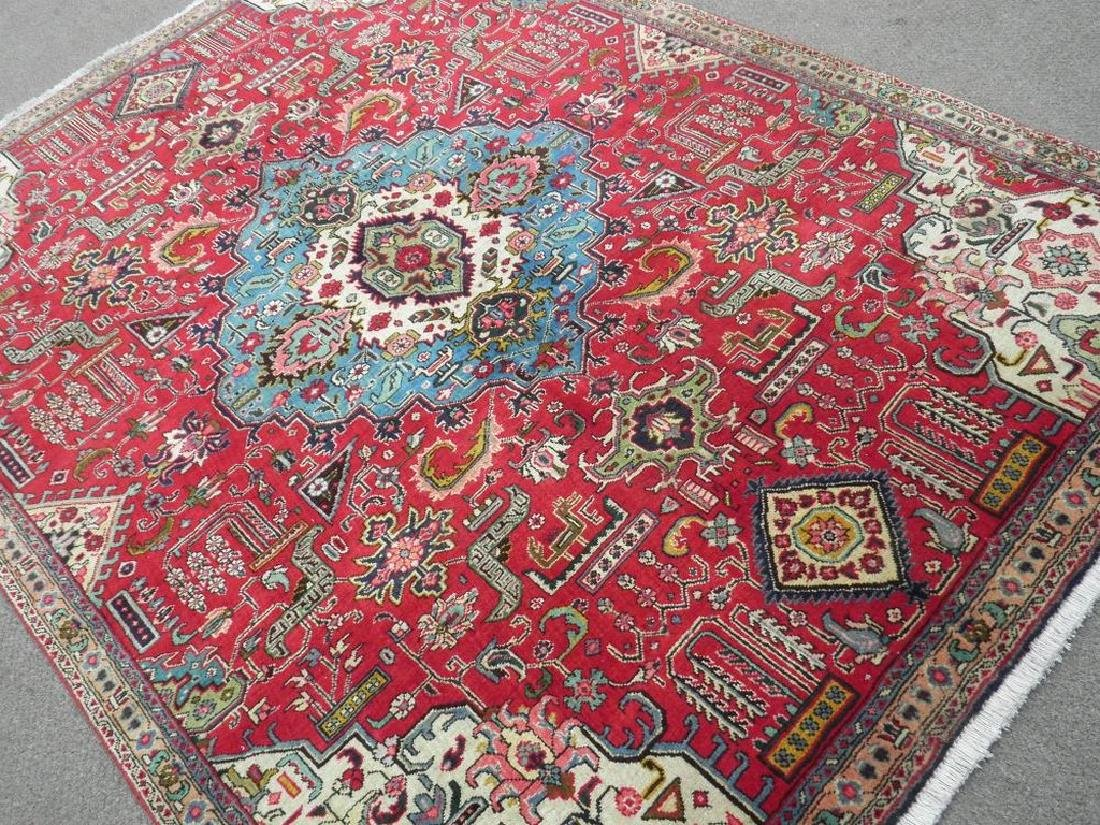 Hand Woven Semi Antique Persian Tabriz Rug 8.7x6 - 2