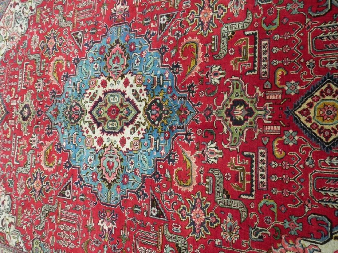 Hand Woven Semi Antique Persian Tabriz Rug 8.7x6 - 3