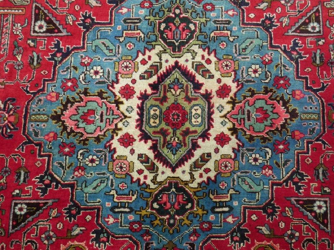 Hand Woven Semi Antique Persian Tabriz Rug 8.7x6 - 4