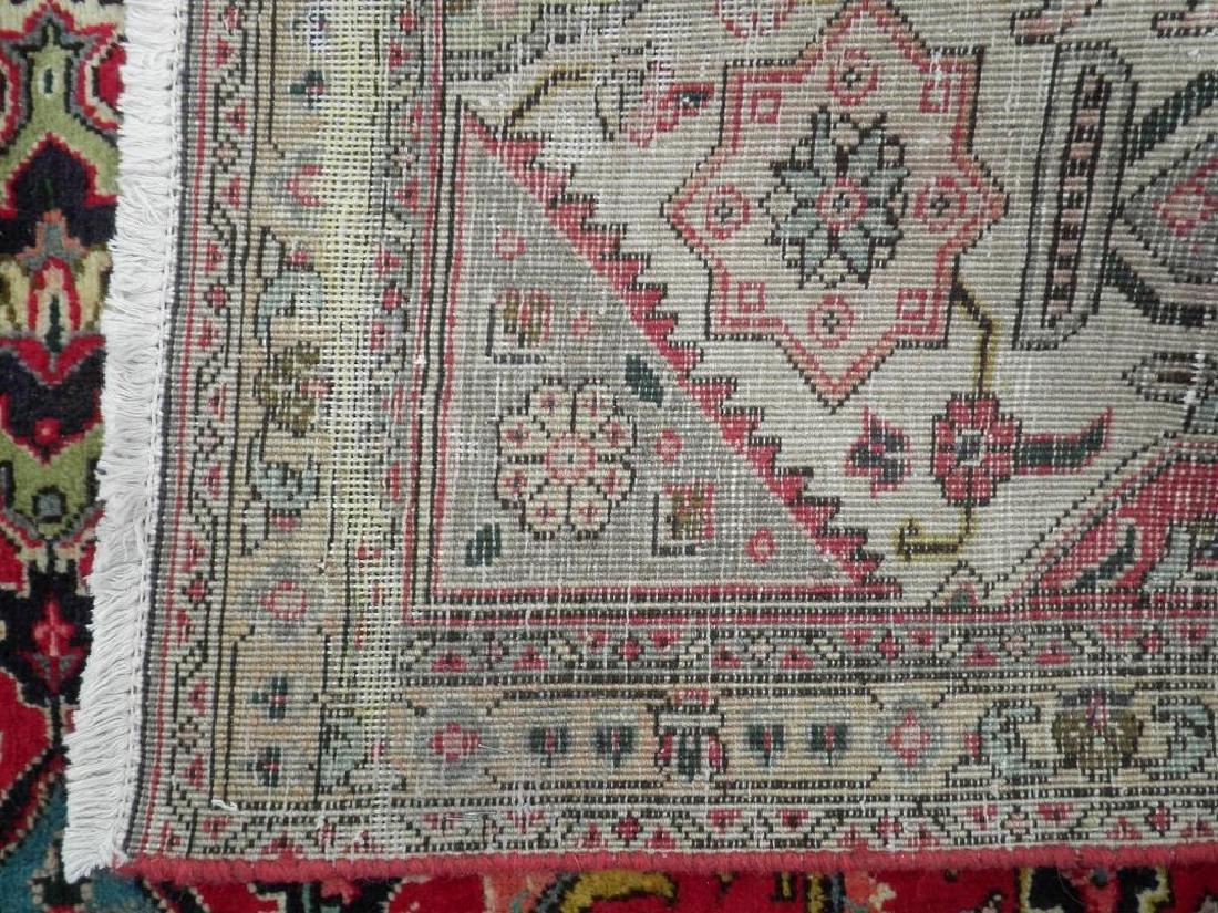Hand Woven Semi Antique Persian Tabriz Rug 8.7x6 - 5