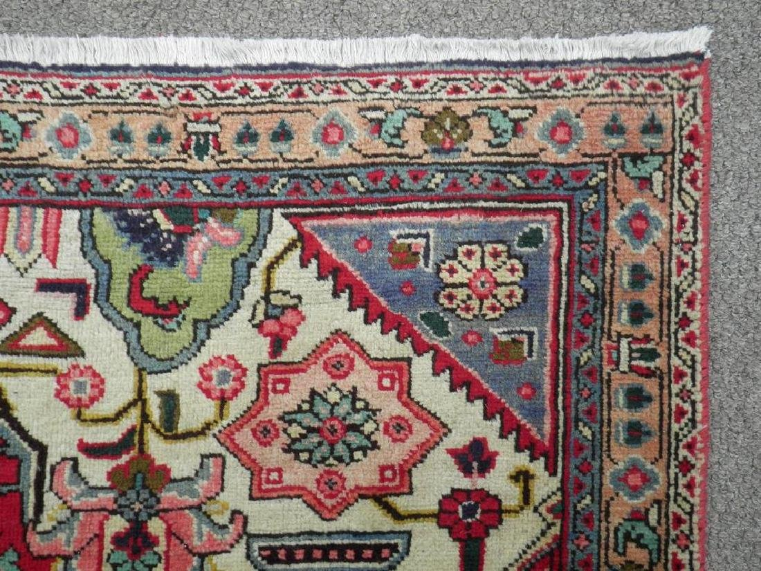 Hand Woven Semi Antique Persian Tabriz Rug 8.7x6 - 6