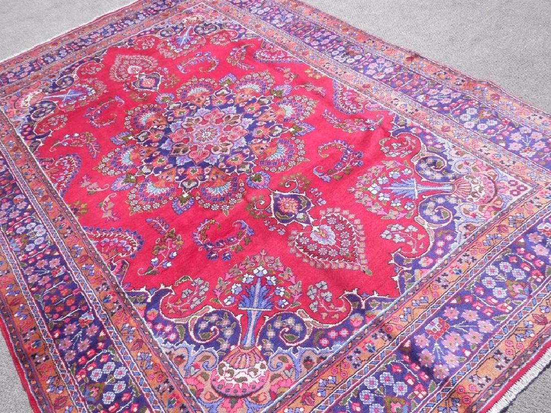 Hand Woven Semi Antique Persian Mashhad Rug 9.7x6.6 - 2