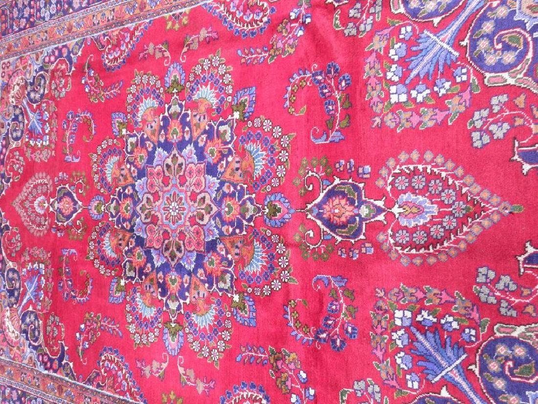 Hand Woven Semi Antique Persian Mashhad Rug 9.7x6.6 - 3