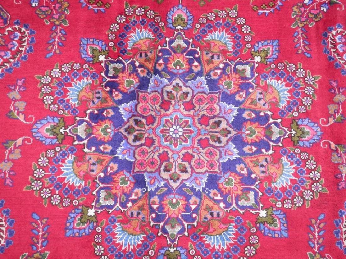 Hand Woven Semi Antique Persian Mashhad Rug 9.7x6.6 - 5