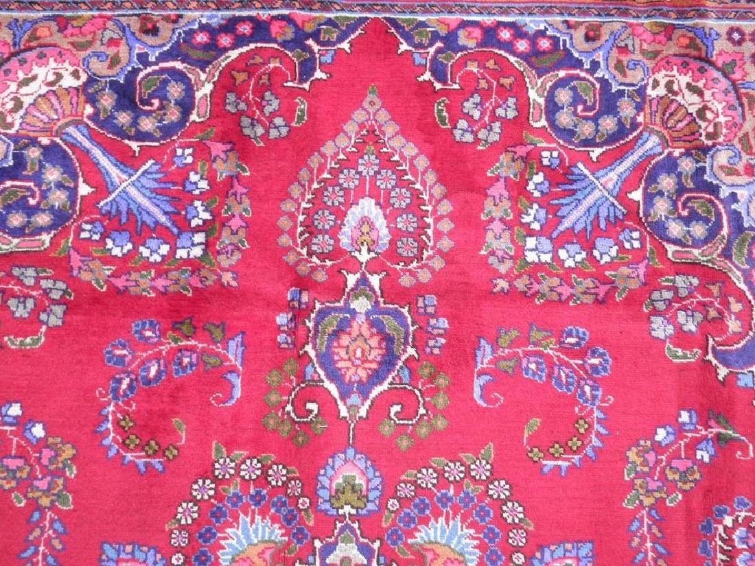 Hand Woven Semi Antique Persian Mashhad Rug 9.7x6.6 - 6