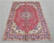 Hand Woven Semi Antique Persian Tabriz Rug 10.2x6.9