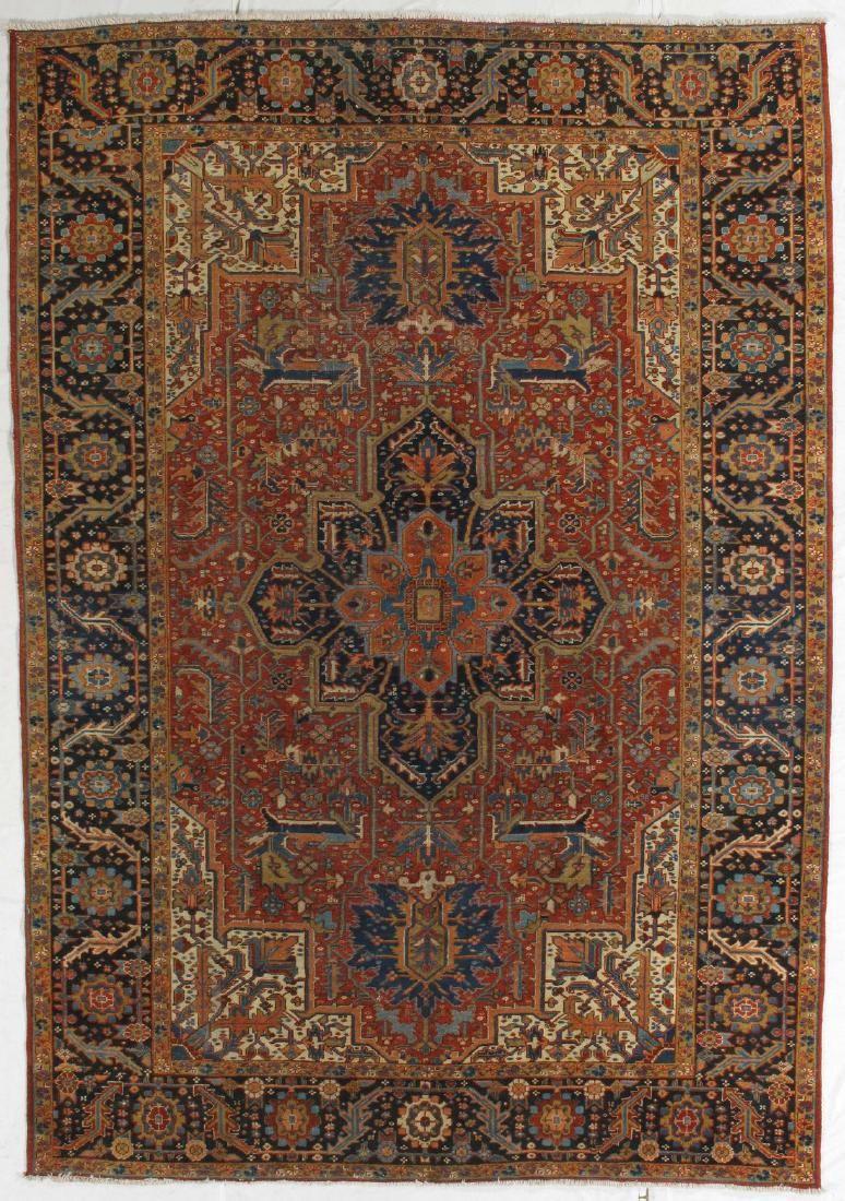 Antique Persian Heriz Rug 7.8x11