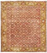 Antique Persian Mahal Rug. 9.8x11
