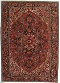 Antique Persian Heriz Rug 9.8x13.7