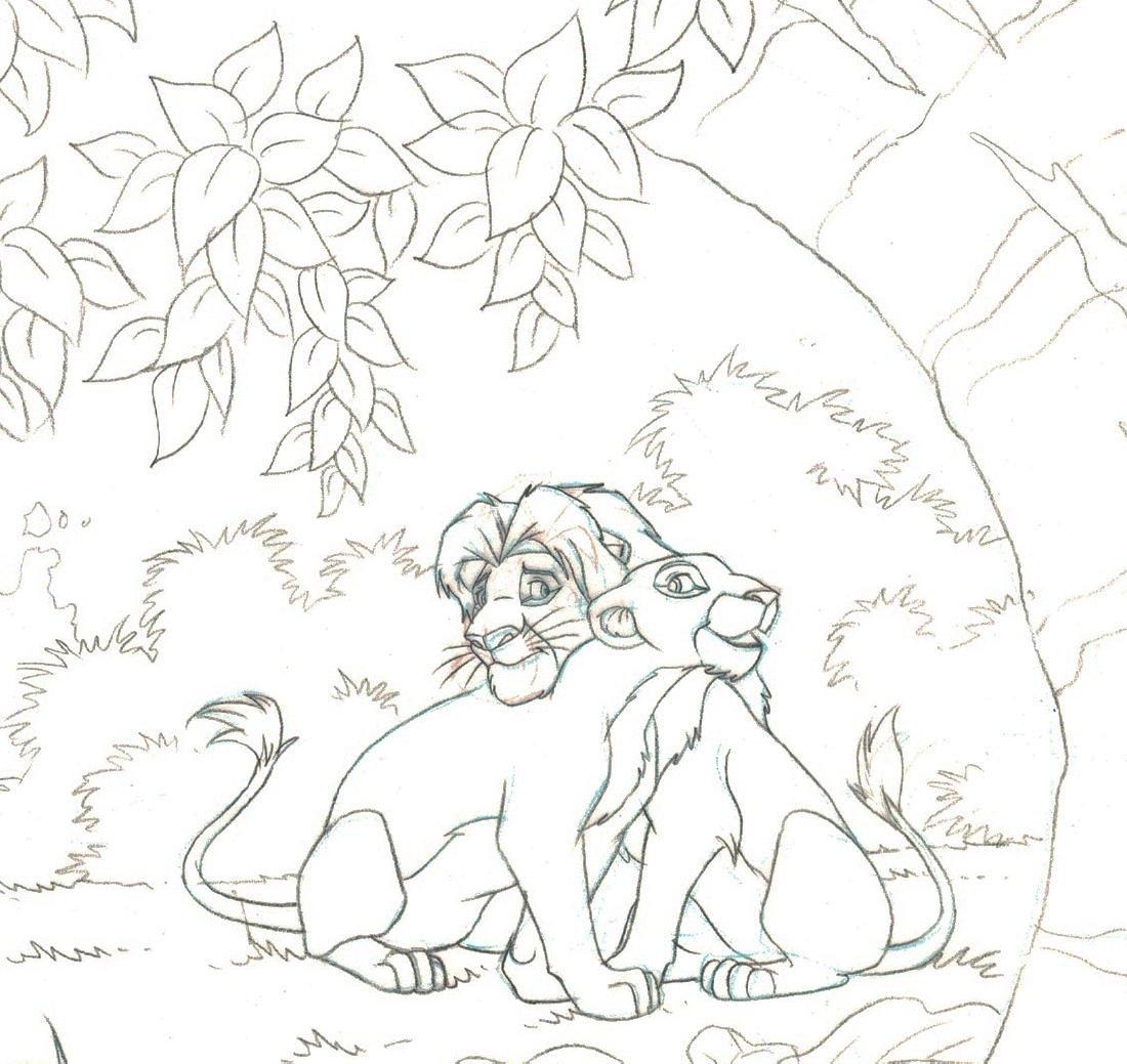 Simba,Nala,Timon & Pumba - Original Production Page - 2