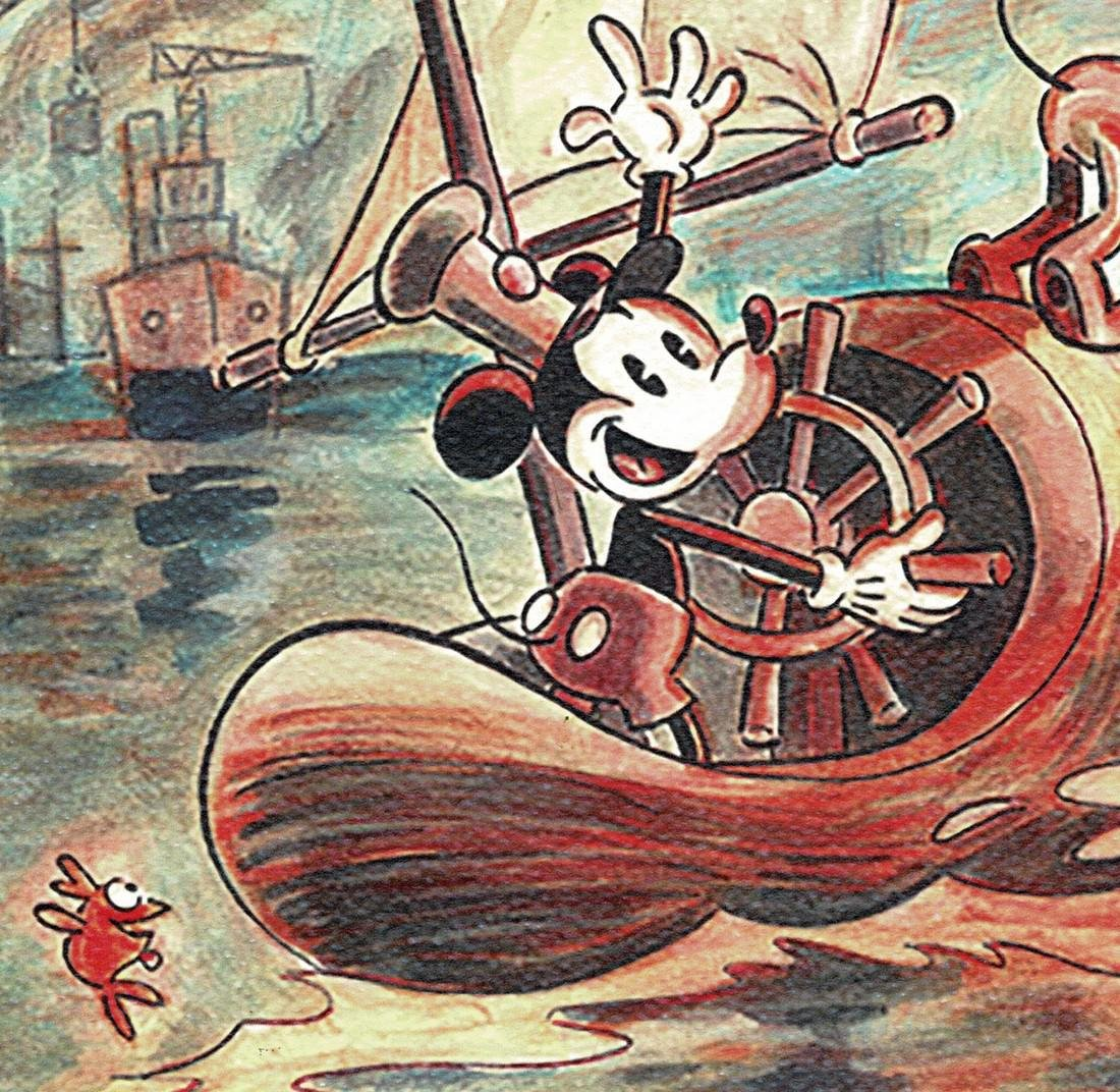 Mickey Mouse - Steamboat Willie Print - 3