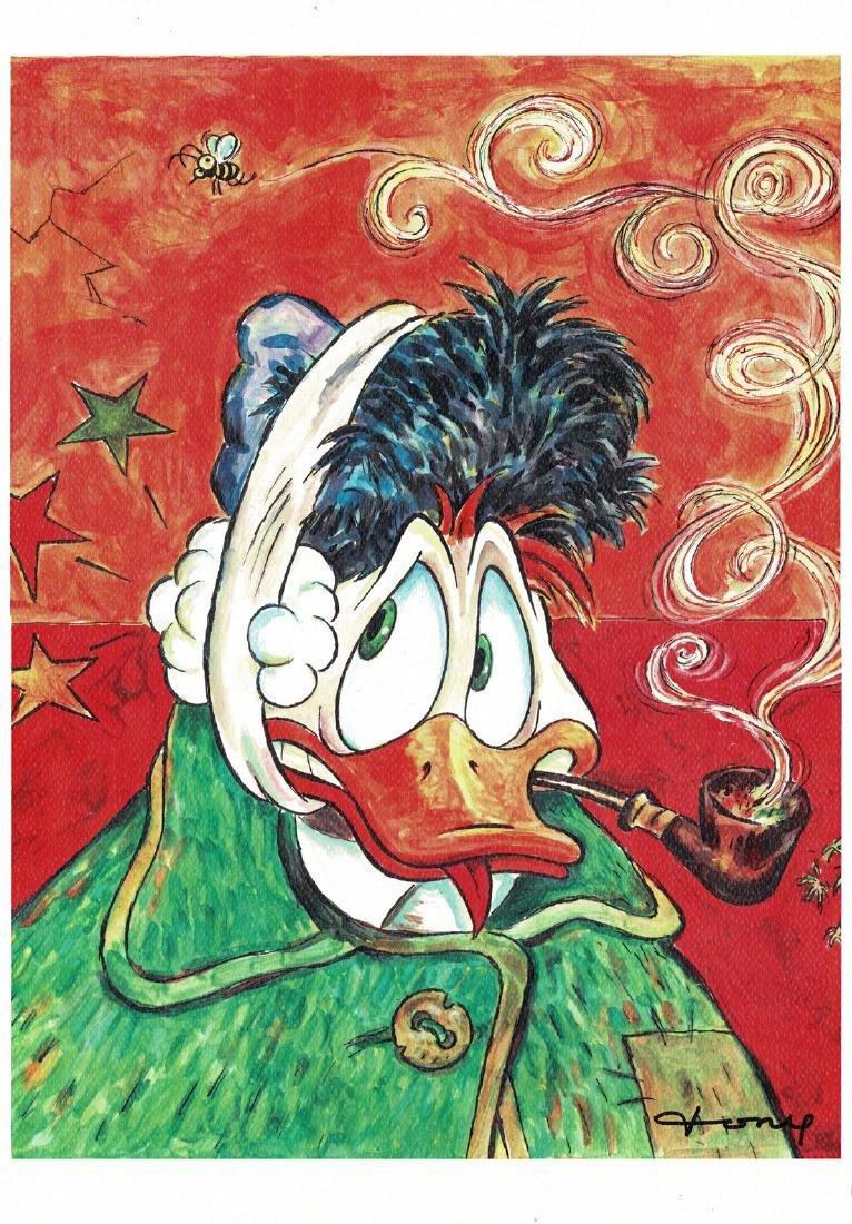 Donald Duck - Van Gogh Print