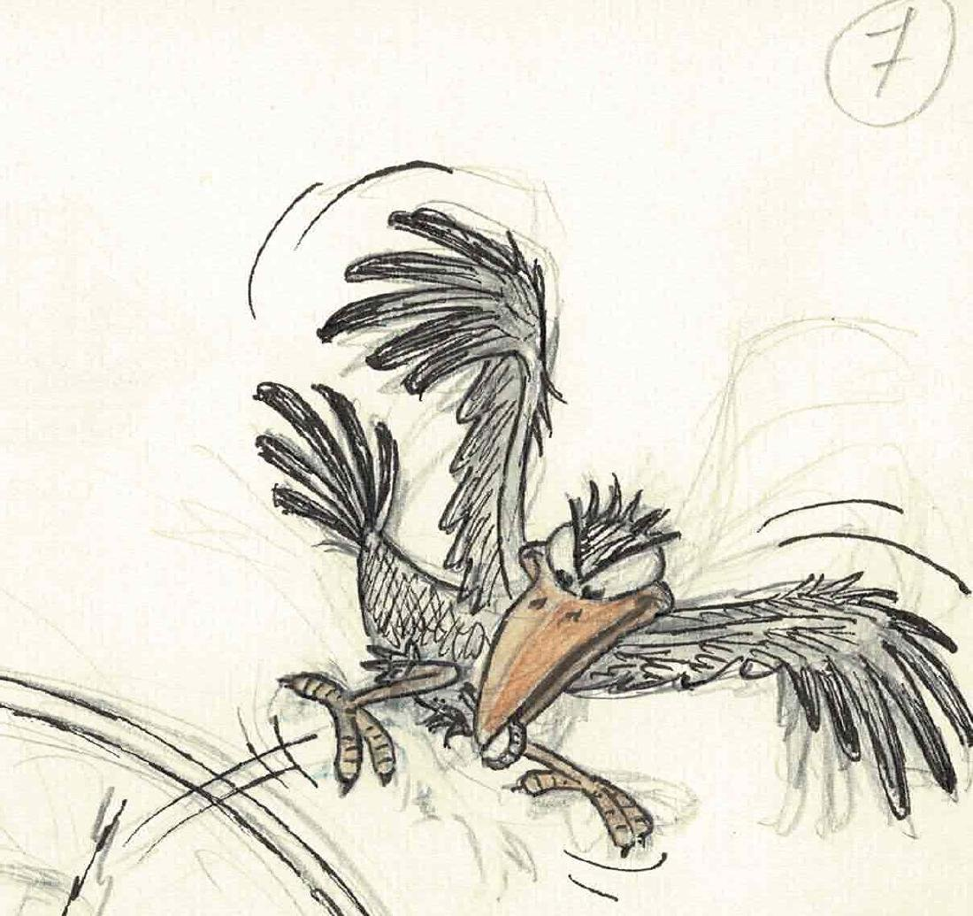 Original Scrooge and the Crow #7 Colored Pencil, - 4